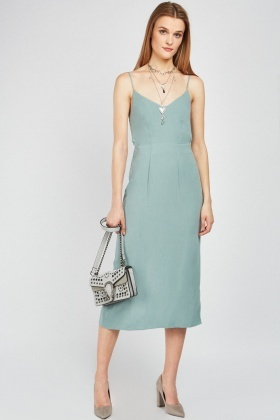 Tie Back Midi Slip Dress