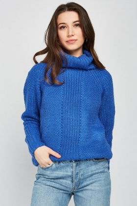 Turtle Neck Chunky Knit Jumper