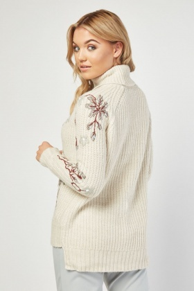 Hand Embroidered Chunky Jumper