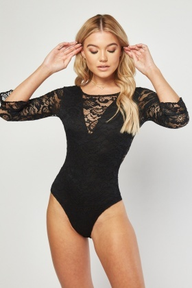 Lace Flower Bodysuit