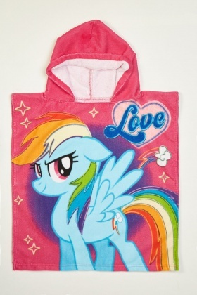 My Little Pony Hooded Towel Poncho