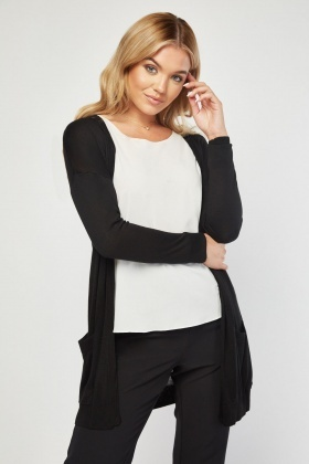 Open Front Thin Knit Cardigan