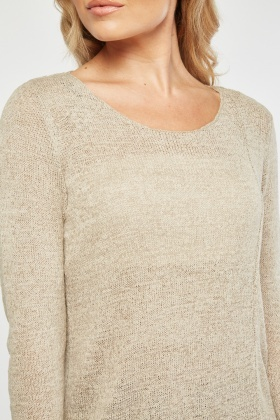 Uneven Hem Knit Top