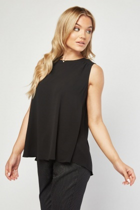 Wrap Slit Back Shell Top