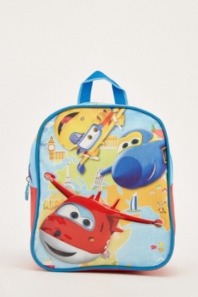 3D Super Wings Kids Backpack