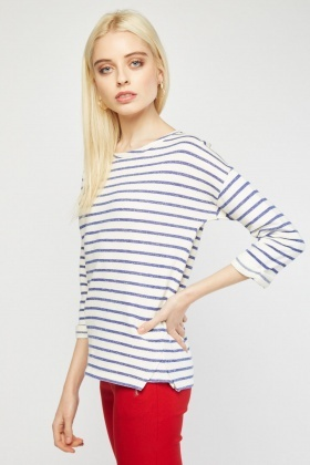 Casual Novelty Stripe Top