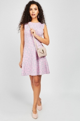 Daisy Embossed Skater Dress