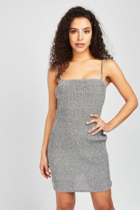 Lurex Slip-On Rib Dress