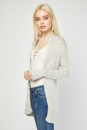 Mid Length Eyelash Cardigan
