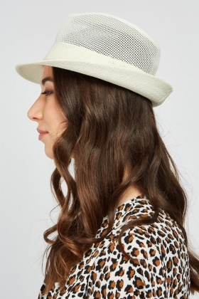 Perforated Fedora Hat