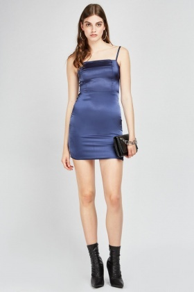 Sateen Slip-On Mini Dress