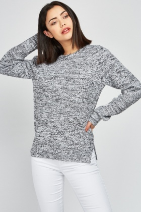 a3f353e4637 Crew Neck Speckled Jumper