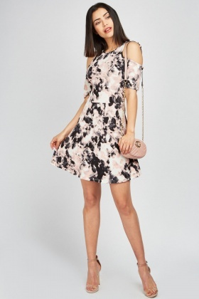 Dispersed Printed Swing Dress