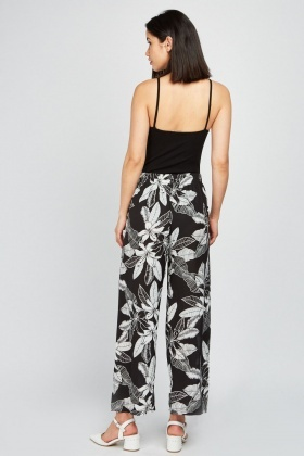 Sheer Chiffon Printed Trousers