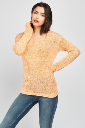 a9e175ce4022 V-Neck Loose Knit Jumper