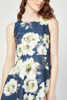 Digital Printed Floral Dress