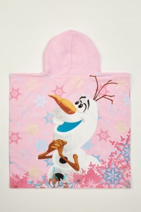 Frozen Hooded Towel Poncho