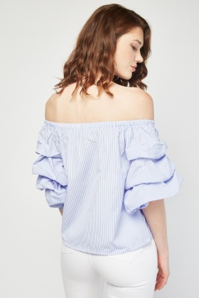 Layered Ruched Stripe Top