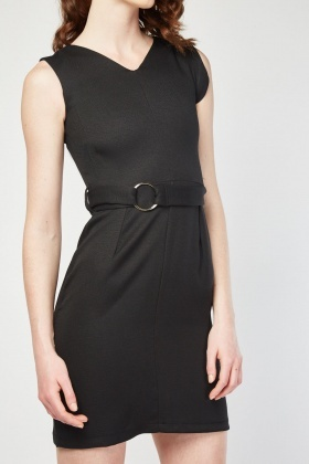 O-Ring Belted Dress