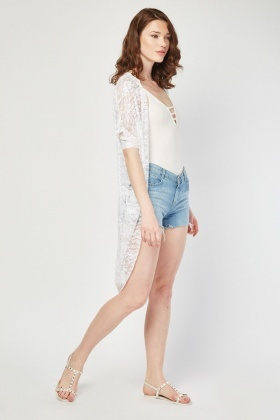 Open Front Lace Cardigan