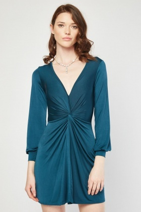 Twisted Ruched Dress