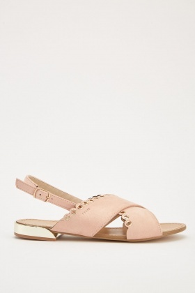 Eyelet Scallop Cut Sandals