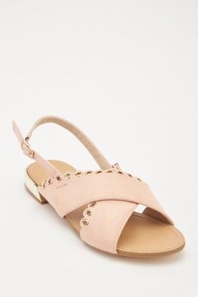 d5081c3fe3d8 Eyelet Scallop Cut Sandals