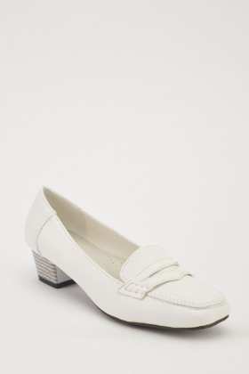 Low Heel Slip-On Loafers