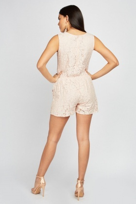 Lace Crochet Playsuit