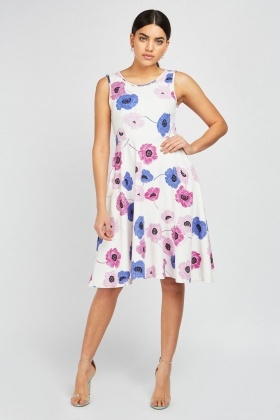 Printed Midi Swing Dress