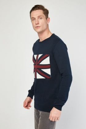Union Jack Pattern Jumper