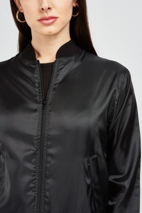 Zip Up Light Bomber Jacket