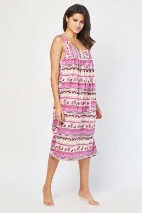 Animal Paisley Print Nightie