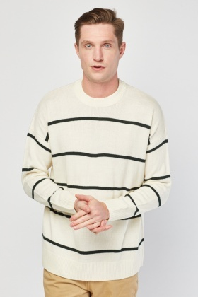 Crew Neck Stripe Knit Jumper