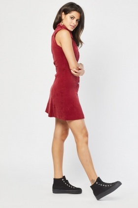Sleeveless Cord Shift Dress