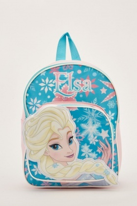 3D Elsa Print Kids Backpack