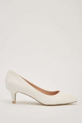 Kitten Heel Court Shoes