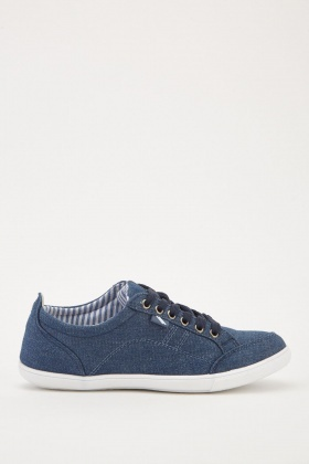 Low Top Denim Plimsolls