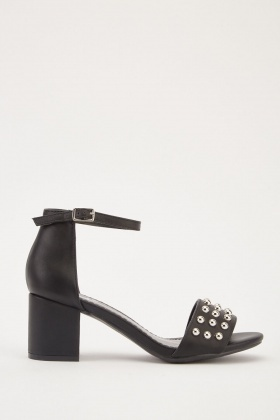 8185d5d0ae58 Studded Block Heel Sandals