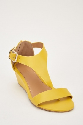 T-Strap Wedge Sandals