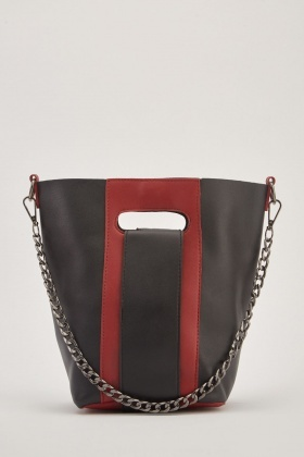 Two-Tone Small Bucket Bag