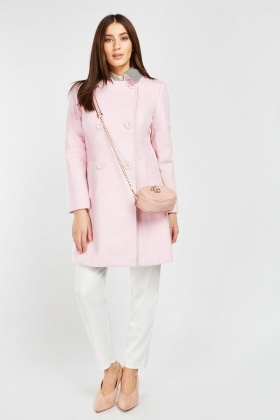 Button Front Long-Line Coat