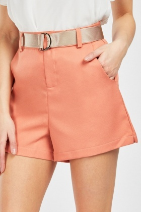 D-Ring Belted Culotte Shorts