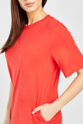 Orange Shirt Dress