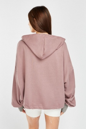 Slouchy Logo Front Hoodie