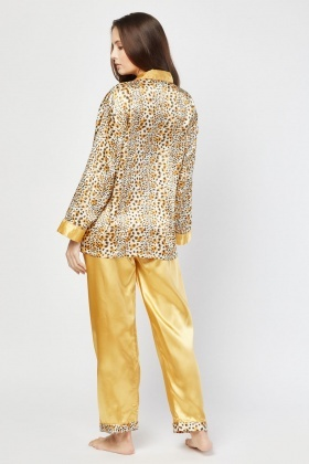 Animal Print Sateen Pyjama Set