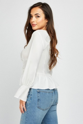 Lace Up Corset Style Blouse