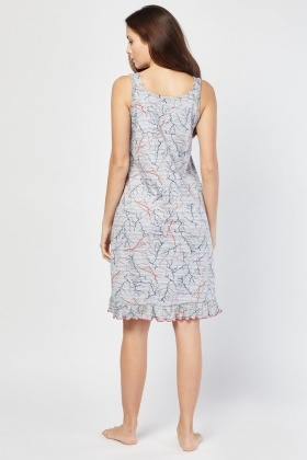 Lightning Bolt Print Nightie