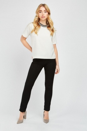 Low Waist Skinny Black Jeans
