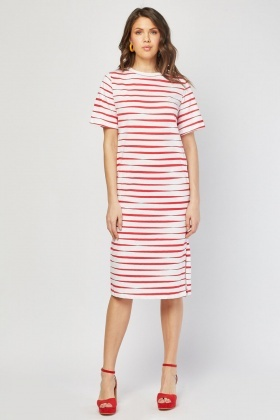 Short Sleeve Stripe T-Shirt Dress